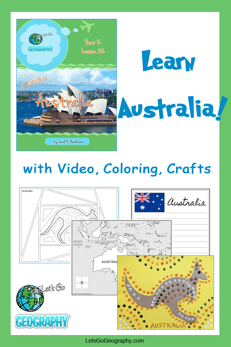 Learn Australia the fun way with video, coloring, crafts, and more! Kids love geography with all the activities in Let's Go Geography.