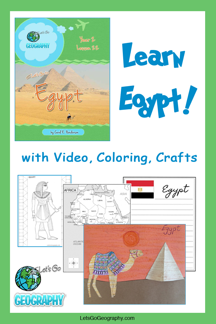 Learn Egypt the fun way with video, coloring, crafts, and more! Kids love geography with all the activities in Let's Go Geography.