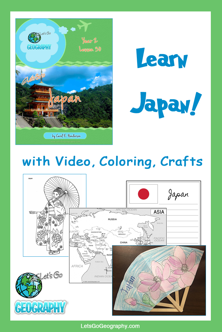 Learn Japan the fun way with video, coloring, crafts, and more! Kids love geography with all the activities in Let's Go Geography.