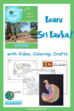 Learn Sri Lanka the fun way with video, coloring, crafts, and more! Kids love geography with all the activities in Let's Go Geography.