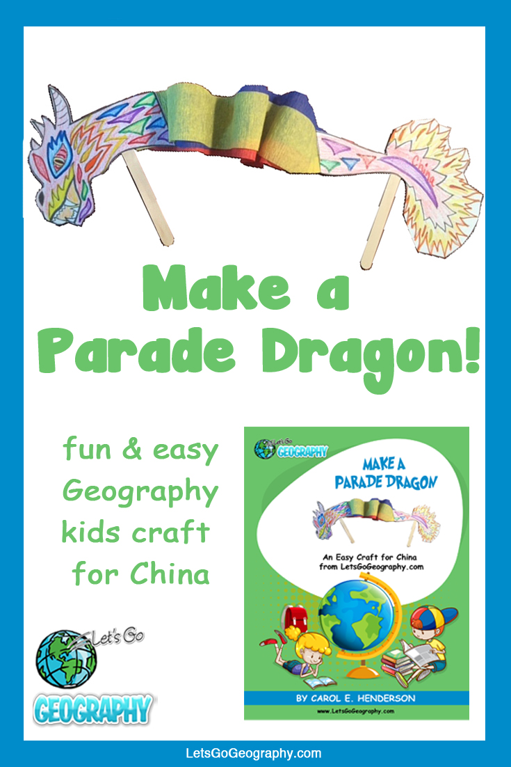 Kids love making these simple Parade Dragons for China! It's a great geography craft for kids. Share with friends! #letsgogeography