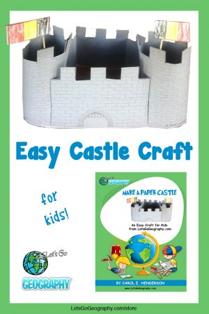 Kids love making these easy Paper Castles! And it's a great project for both history & geography. Share with friends! #letsgogeography