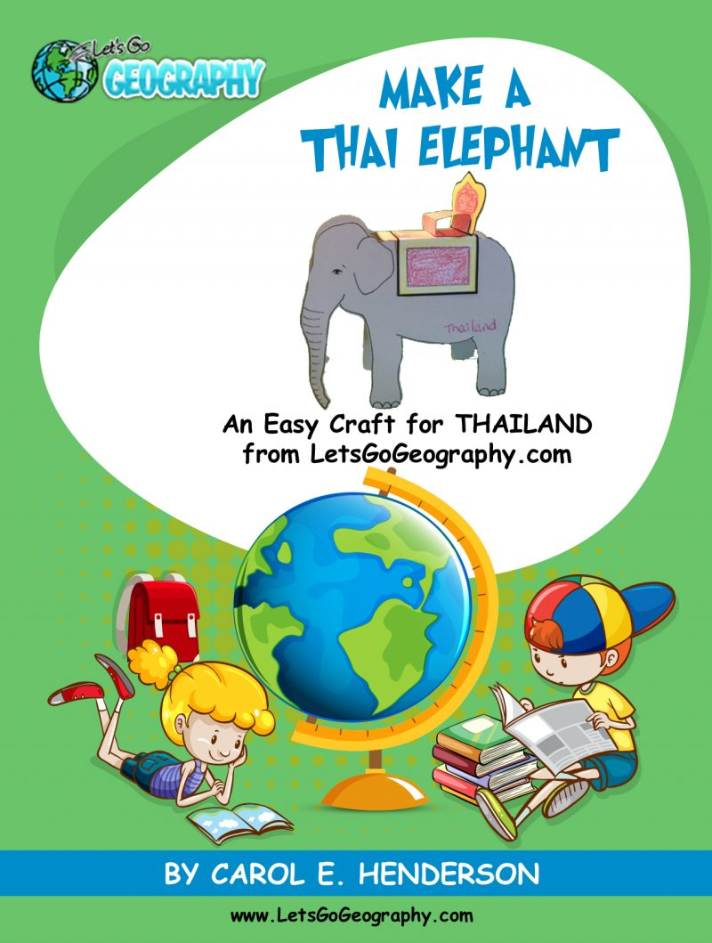Kids love making these simple Elephants for Thailand! It's a great geography craft for kids. Share with friends! #letsgogeography